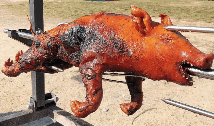 仔豚の丸焼き