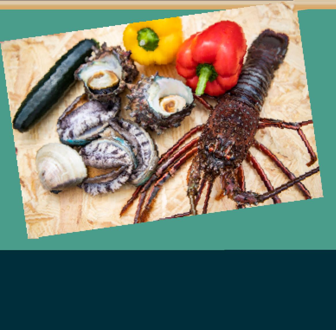 伊勢海老&BIGホタテとハマグリの醤油焼き